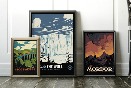 Retro-Styled Fantasy Travel Posters