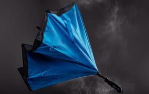 Reverse-Close Umbrellas