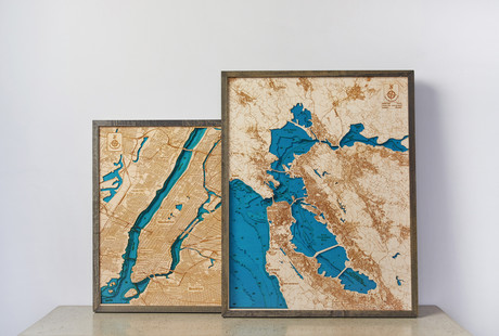 3D Wood Topography Maps