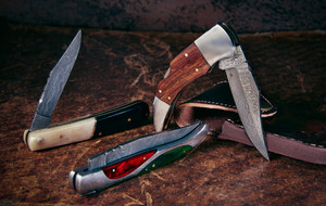 Damascus Folding Knives