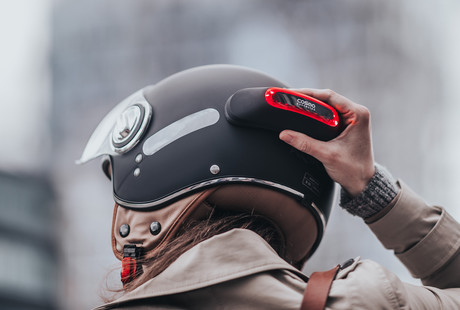 The Motorcycle Helmet Light