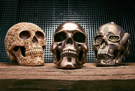 Handcrafted Resin Skulls