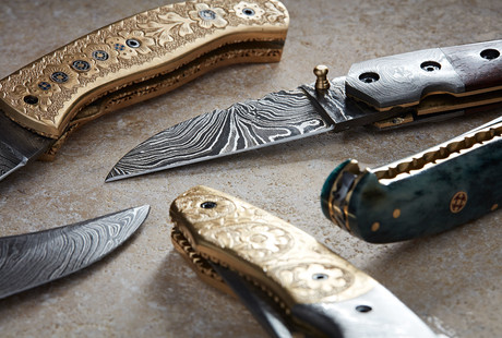 Engraved Folding Knives