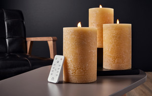 Remote Controlled Real Flame Candle