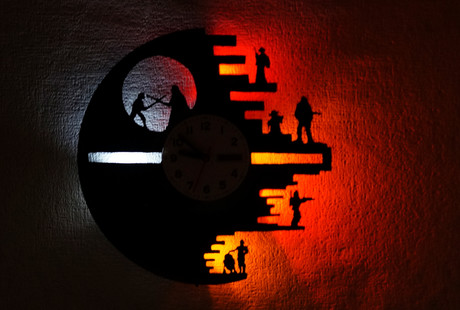 LED Clocks Made From Vinyl Records