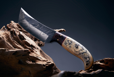 Damascus Steel Hunting Knives