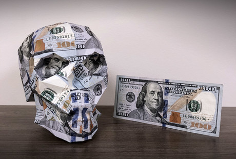 Geometric Banknote Sculptures