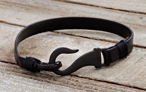 Bold Leather + Chain Bracelets