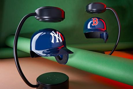 Levitating MLB Helmets