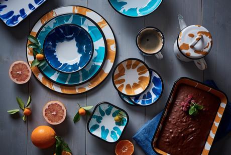 Colorful Enamel Tableware