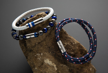 Bold Leather + Steel Bracelets
