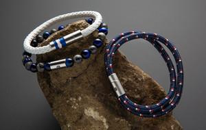 Bold Leather + Steel Bracelets