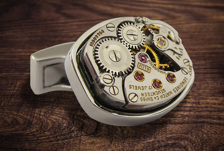Luxury Skeleton Watch Cufflinks
