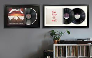 Framed Vinyl Record Displays